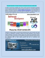 The Most Important of Custom Software Development Services and Benefits
