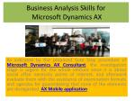 Microsoft Dynamics AX Consultant, Microsoft Dynamics AX 2012 Implementation Planning,Microsoft Dynamics 365 Overview,M