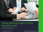 Legal Services Industry Executives Email Lists