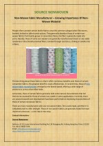 Non-Woven Fabric Manufacturer – Growing Importance Of Non-Woven Material