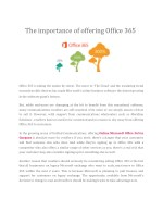 The importance of offering Office 365