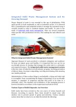 Integrated Solid Waste Management System