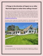 3 Things in the direction of Expect on or after Real land Agent at what time Selling a house!