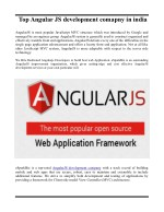 AngularJS Development Company in INDIA & USA  | eSparkBiz
