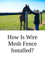 How Is Wire Mesh Fence Installed?