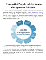 How to Get People to Like Vendor Management Software