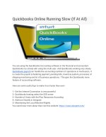 Quickbooks Online Running Slow (If At All)