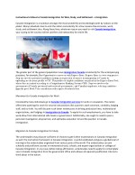 Instructions to Move to Canada immigration for Wok, Study, and Settlement – Immigration
