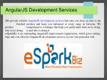 AngularJS Development Company | AngularJS Developer|eSparkBiz