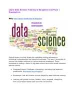 Learn Data Science Training in Bangalore and Pune  Prwatech
