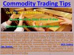 Commodity Trading Tips and MCX Trading Tips Service with high profit