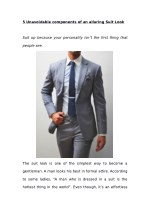 5 Unavoidable components of an alluring Suit Look
