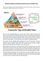 Remain Healthy by Following Fantastic Tips of Health Time