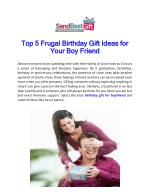 Top 5 Frugal Birthday Gift Ideas For Your Boy Friend
