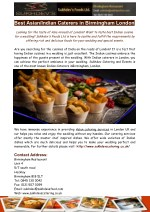 Asian Catering Services in London- Sukhdev's Foods Ltd