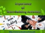 Importance of Team-Building Activities