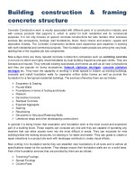 Building construction & framing concrete structure