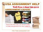 Assignment Expert   Toll Free 1-844-752-3111