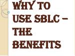 Meaning of the SBLC letter of credit