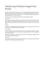 The best ways to Acquire Instagram Fans Prompt