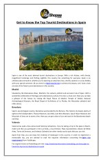 Get to Know the Top Tourist Destinations in Spain