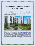 Luxurious Life In The Revanta Multi State With Your Family