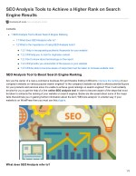 SEO Analysis Tools to Achieve a Higher Rank on Search Engine Results