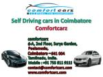 Self Driving cars in Coimbatore - Comfortcarz