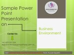 Power Point Presentation on Business Environment