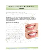 The Best Dental Practice in Montville For Teeth Whitening