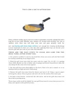 How to clean a cast iron grill dosa tawa