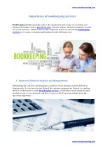 Importance of bookkeeping services