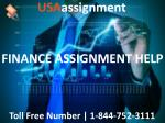 FINANCE ASSIGNMENT HELP   Toll Free:1-844-752-3111