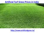 What is best artificial turf grass prices in India