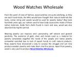 Wood Watches Wholesale