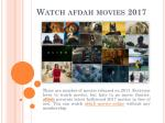 Watch Adah Movies 2017