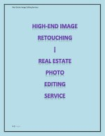 High Dynamic Image Editing Service for Real Estate and Architectural Photography