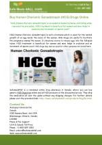 Buy Human Chorionic Gonadotropin (HCG) Drugs Online