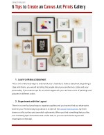 6 Tips to Create an Canvas Art Prints Gallery