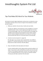 Tips to make SEO work for your website