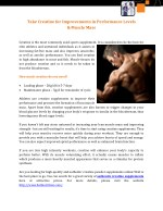 Take Creatine for Improvements in Performance Levels & Muscle Mass