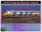 Crude Oil Trading Tips & Commodity Trading Call