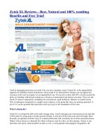 Zytek XL Reviews – Best, Natural and 100% resulting Benefits and Free Trial!