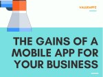 The gains of mobile apps for business