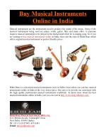 Buy Musical Instruments Online in India