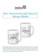 Best Anniversary Gift Ideas for Bhaiya Bhabhi