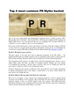 Top 4 most common PR Myths busted