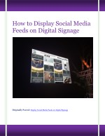 How to Display Social Media Feeds on Digital Signage