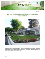 Why You Should Hire a Professional to Install Your Artificial Turf