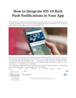 Integrate iOS 10 Rich Push Notifications in Your App